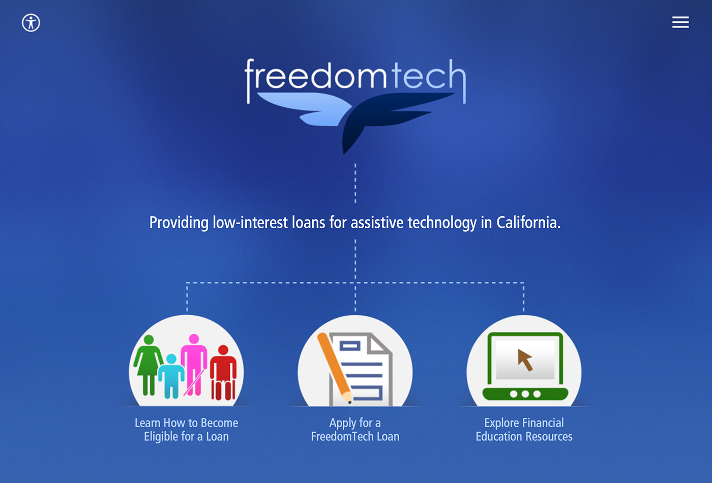 Screenshot of the FreedomTech website.